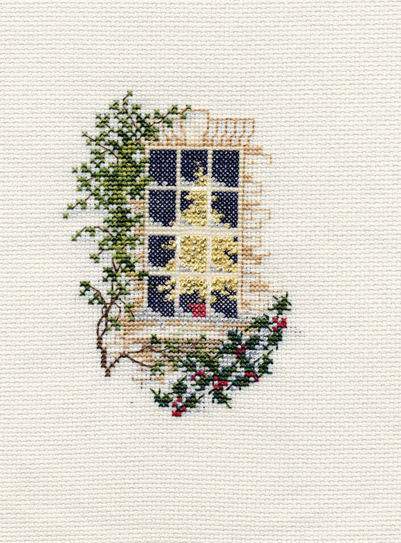 Christmas Window Cross Stitch Christmas Card Kit by Derwentwater Designs