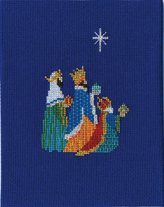 We Three Kings Cross Stitch Christmas Card Kit by Derwentwater Designs