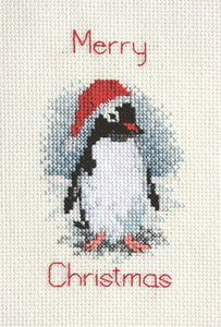 Penguin Cross Stitch Christmas Card Kit by Derwentwater Designs