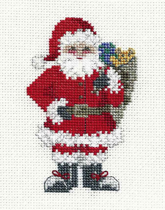 Santas Sack Cross Stitch Christmas Card Kit by Derwentwater Designs