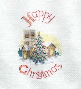 Midnight Mass Cross Stitch Christmas Card Kit by Derwentwater Designs