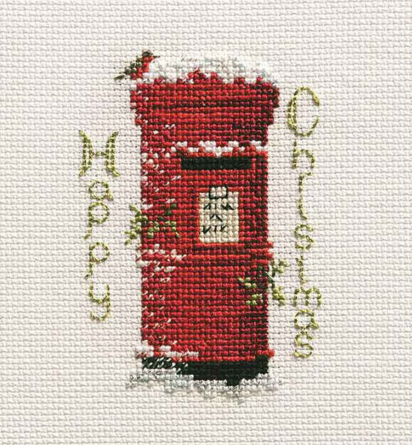 Christmas Post Cross Stitch Christmas Card Kit by Derwentwater Designs