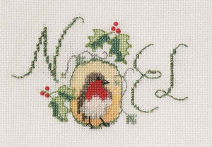 Noel Robin Cross Stitch Christmas Card Kit by Derwentwater Designs