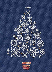 Snowflake Tree Cross Stitch Christmas Card Kit by Derwentwater Designs