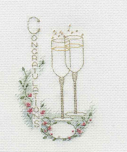 Congratulations Cross Stitch Card Kit by Derwentwater Designs