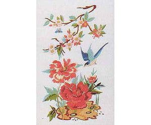 Oriental Pink Peony Embroidery Kit by Design Perfection