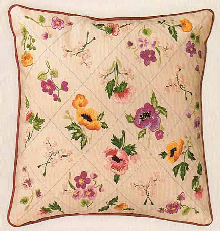Summer Trellis Embroidery Cushion Front Kit by Design Perfection