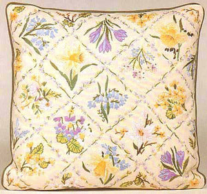 Spring Trellis Embroidery Cushion Front Kit by Design Perfection