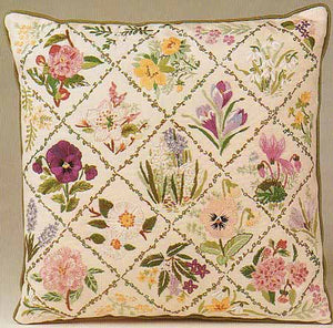 Winter Trellis Embroidery Cushion Front Kit by Design Perfection