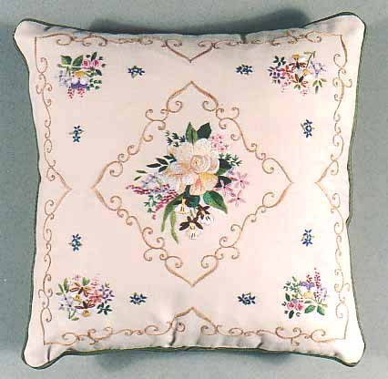 Gardenia Embroidery Cushion Front Kit by Design Perfection