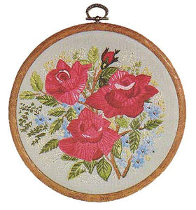 Roses Embroidery Kit by Design Perfection