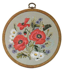 Poppies Embroidery Kit by Design Perfection