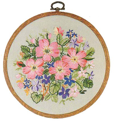 Sweet Briar Embroidery Kit by Design Perfection