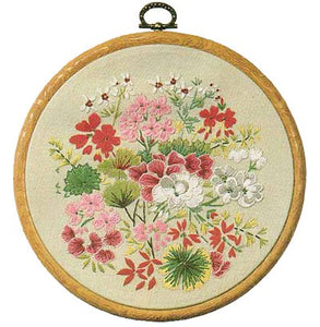Geranium Embroidery Kit by Design Perfection