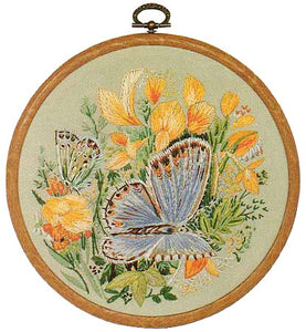 Common Blue Butterfly Embroidery Kit by Design Perfection