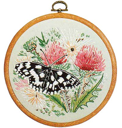 Marbled White Butterfly Embroidery Kit by Design Perfection