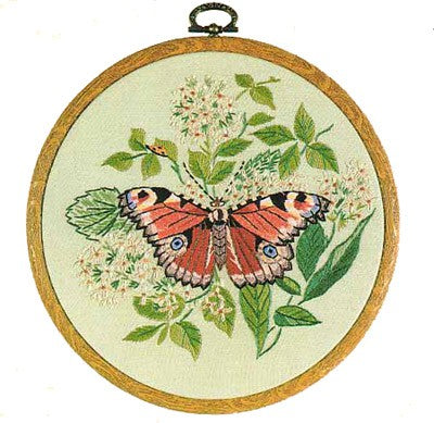 Peacock Butterfly Embroidery Kit by Design Perfection