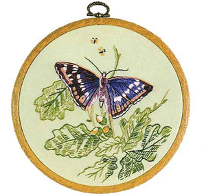 Purple Emporer Butterfly Embroidery Kit by Design Perfection