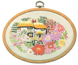 Aster Cottage Embroidery Kit by Design Perfection