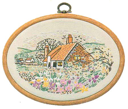 Jasmine Cottage Embroidery Kit by Design Perfection