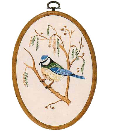 Blue Tit Embroidery Kit by Design Perfection