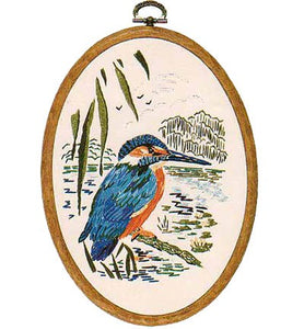 Kingfisher Embroidery Kit by Design Perfection