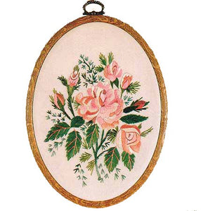 Alba Rose Embroidery Kit by Design Perfection