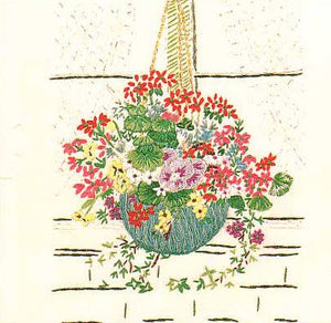 Window Hanging Basket Embroidery Kit by Design Perfection