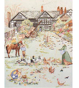 Manor Farm Embroidery Kit by Design Perfection