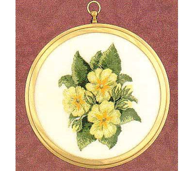 Primroses Embroidery Kit by Design Perfection (two)