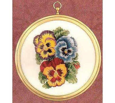 Pansies Embroidery Kit by Design Perfection (two)