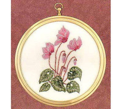 Cyclamen Embroidery Kit by Design Perfection