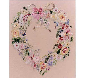Floral Heart Embroidery Kit by Design Perfection
