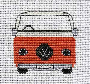 Camper Van Cross Stitch Card Kit by September Cottage Crafts