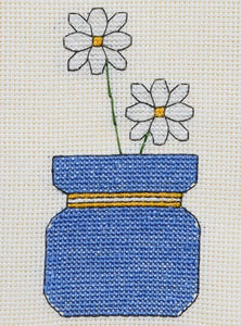 Daisy Vase Cross Stitch Card Kit by September Cottage Crafts