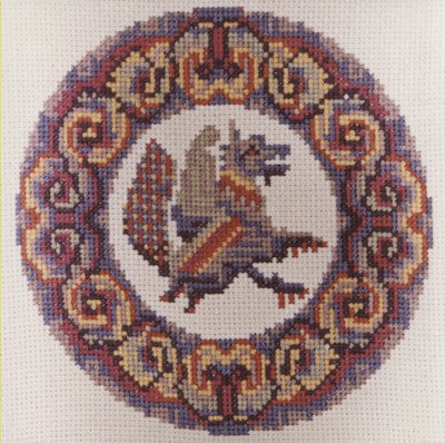 Dragon Cross Stitch Chart by September Cottage Crafts