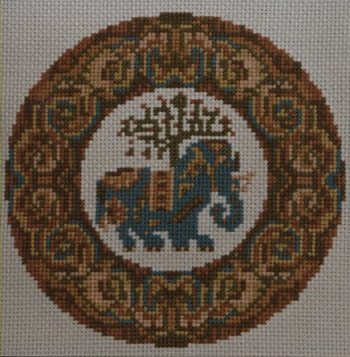 Elephant Cross Stitch Chart by September Cottage Crafts