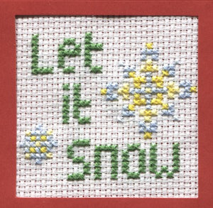 Let it Snow Cross Stitch Christmas Card Kit by September Cottage Crafts