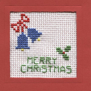 Christmas Bells Cross Stitch Christmas Card Kit by Rainy Day Designs
