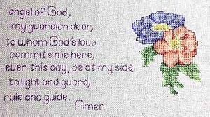 Guardian Angel Prayer Cross Stitch Chart by September Cottage Crafts