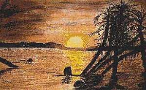 Dawn Over Lake Turkana Cross Stitch Chart by September Cottage Crafts