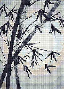 Bamboo Cross Stitch Chart by September Cottage Crafts