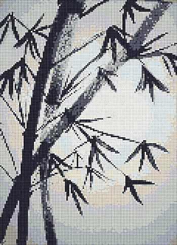 Bamboo Cross Stitch Chart by Rainy Day Designs