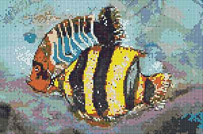 Ink Fish Cross Stitch Chart by September Cottage Crafts