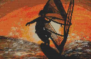 Surfer Dude Cross Stitch Chart by September Cottage Crafts
