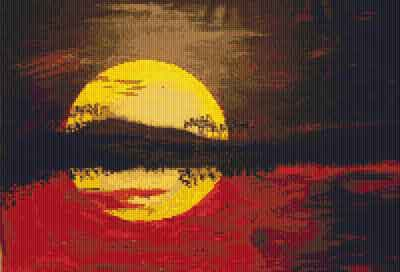 Sunset Dreams Cross Stitch Chart by Rainy Day Designs