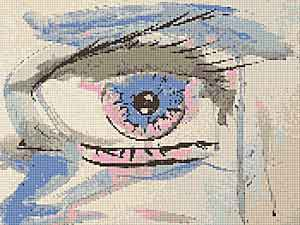Eye of the Beholder Cross Stitch Chart by Rainy Day Designs