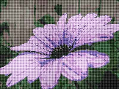 Purple Flower Cross Stitch Chart by September Cottage Crafts