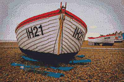 Fishing Boats at Aldburgh Cross Stitch Chart by Rainy Day Designs