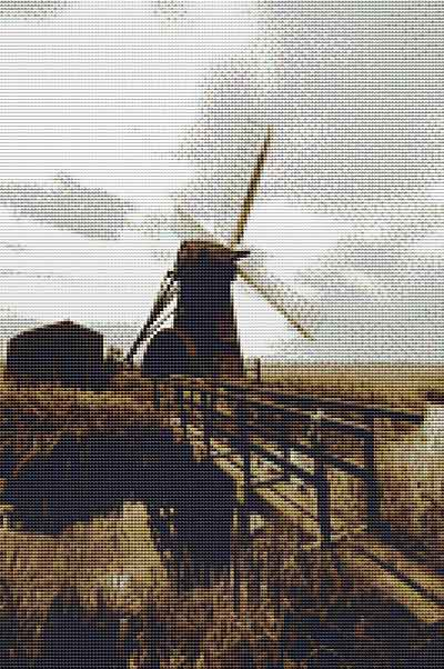 Herringfleet Mill Cross Stitch Chart by September Cottage Crafts